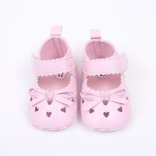 Infant Baby Kids For Girls Shoes Casual Soft Shoes Bowknot Anti-Slip Hook & Loop Shoes Pink White Breathable Crib Chaussure(China)