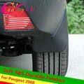 4 Unids/set Suave ABS Guardabarros Durables 2008 Dedicado Guardabarros para 2014 2015 2016 Peugeot 2008 accesorios Del Coche