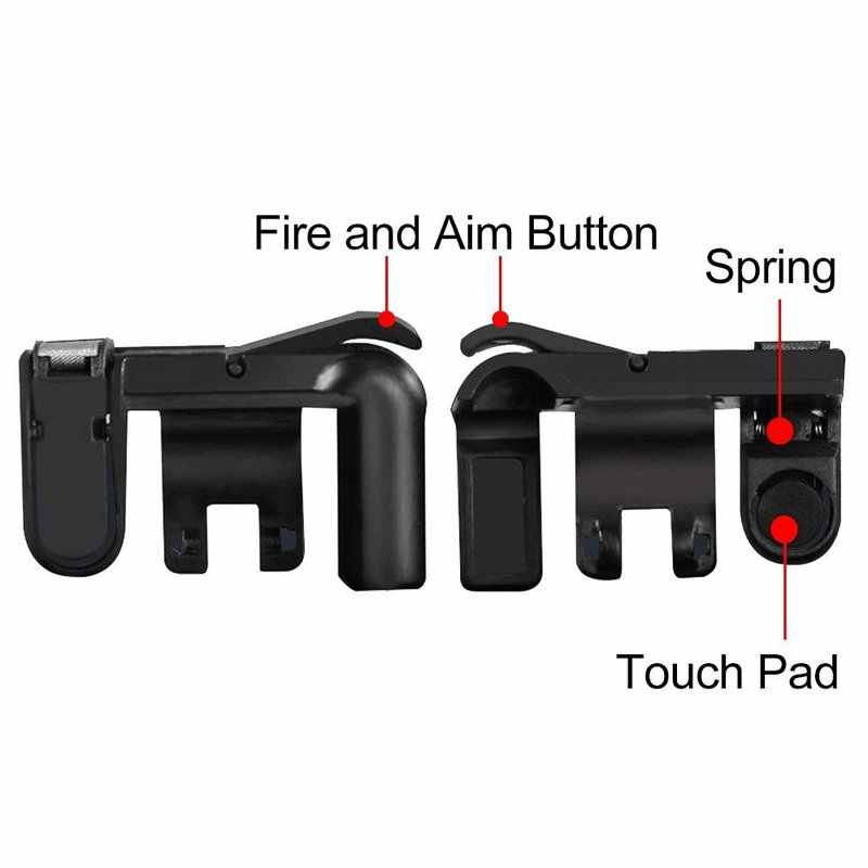 Телефон игра пожарная Кнопка Aim Key Смартфон Мобильные игры L1R1 шутер контроллер телефон геймпад триггер PUBG для Iphone Xiaomi
