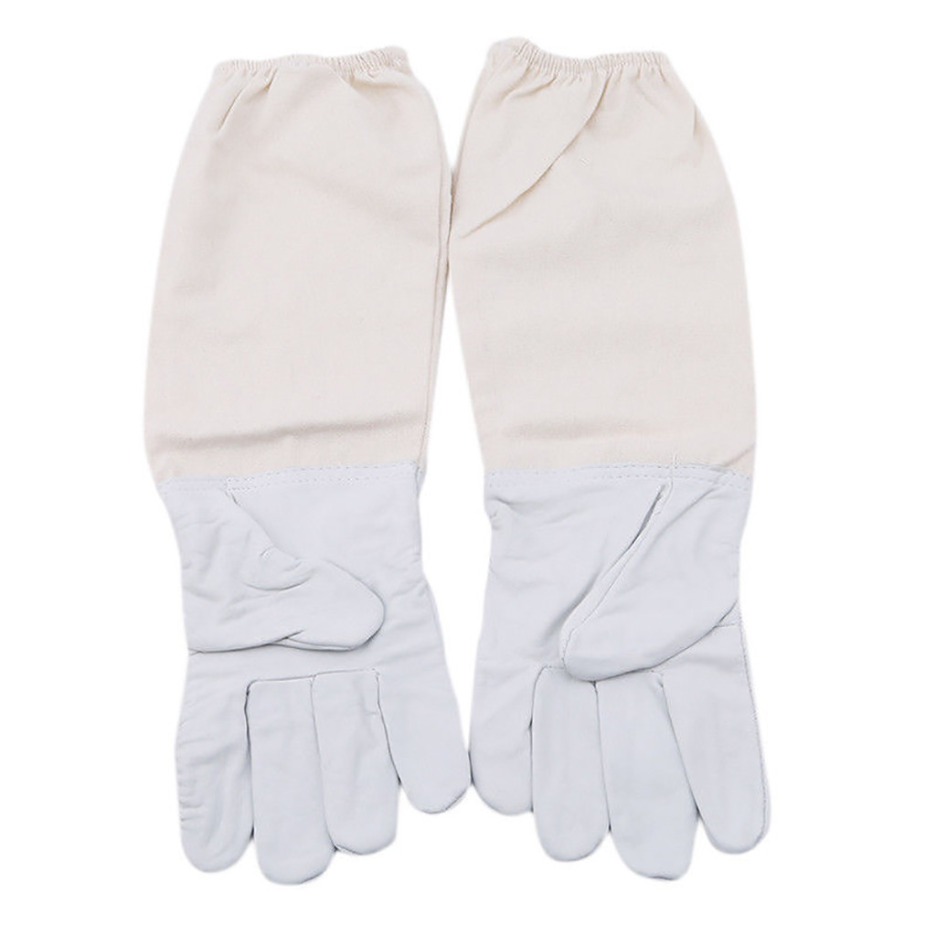 Image 2 - 2019 can't miss recommended Beekeeping Gloves Goatskin Bee Keeping with Vented Beekeeper Long Sleeves beekeeping supplies-in Protective Clothing Accessories from Home & Garden