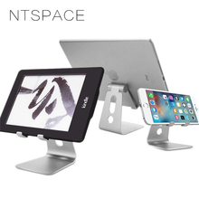 NTSPACE Universal Phone Bracket Adjustable Phone Stand Holder for iPhone 7 8 X Foldable Table Stand For Samsung S8 Xiaomi Huawei