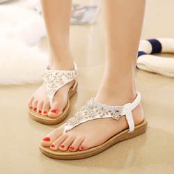 Шикарные женские сандалии, повседневные шлепанцы scarpe donna, женская обувь со стразами, женские сандалии с мягкой подошвой, женские сандалии