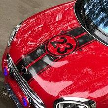 Autocollants numéro 23 pour capot de voiture, pour coffre arrière, pour Mini Cooper One d Clubman F54 F55 F56 F60 R56 R60 R61, accessoires de voiture