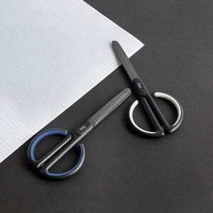 Image 3 - Youpin Fizz Schere Skala Mark Sicher Abgerundeten Cutter Kopf Fluor Beschichtung Prozess Büro Schreibwaren Schere in lager