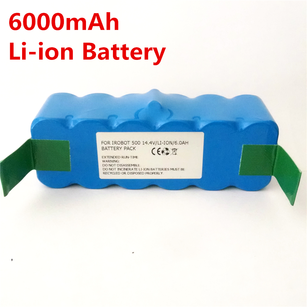 ФОТО 6000mAh Li-ion Battery For iRobot 500 532 540 550 570 580 R3 510 562 610 700 Vacuum cleaner Battery