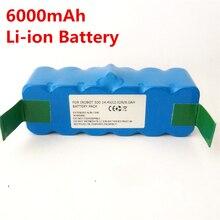 6000 mAh Li-ion Batería Para iRobot 500 532 540 550 570 580 510 562 R3 610 700 Vacuum cleaner Batería