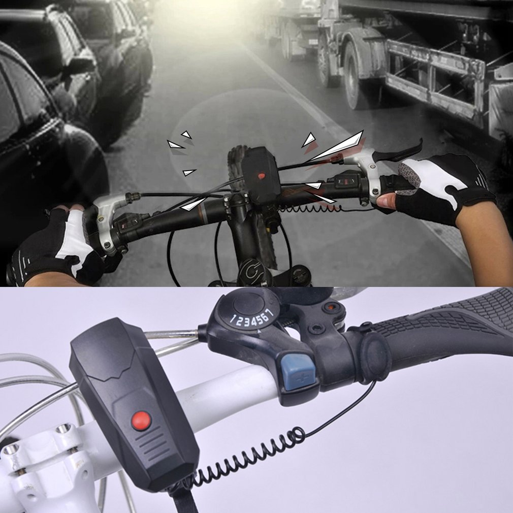 Unique Appearance Electronic Bike Bicycle Handlebar Ring Bell Horn Super Loud Outdoor Cycling Riding Safety Bell Sound Horn