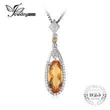 Jewelrypalace 2.4ct oval amarillo genuino citrino colgante de plata de ley 925 no incluye una cadena 2016 nueva joyería fina para las mujeres