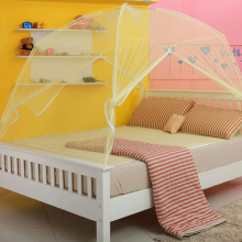 Fashion double door yurt mosquito net single double zipper Moustiquaire adult canopy bed mosquito net safety net