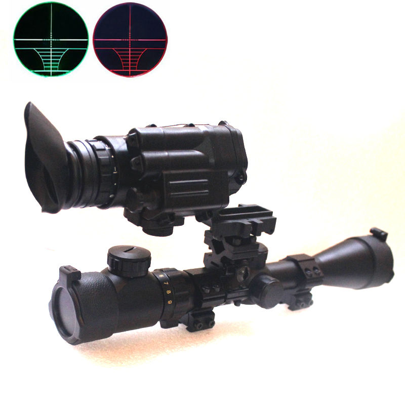 2in1 3-9x40EG Outdoor Hunting Riflescopes illuminated Tactical Optical Sight Scope And Night vision For Shooting