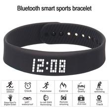 Pulsera inteligente 3D rastreador de fitness pulsera Bluetooth impermeable reloj de pantalla led para huawei xiaomi Android IOS 2019 nueva versión
