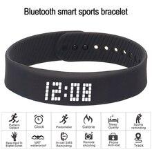 Smart armband 3D fitness tracker Bluetooth armband wasserdichte led anzeige uhr für huawei xiaomi Android IOS 2019 newversion