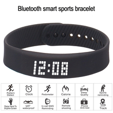 smart wristband 3D fitness tracker Bluetooth bracelet waterproof led display watch for huawei xiaomi Android IOS 2019 newversion