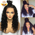 Fashion Long Black Wigs Brazilian Deep Curly Wig Synthetic Lace Front Wigs Heat Resistant Synthetic Hair Wig For Black Women