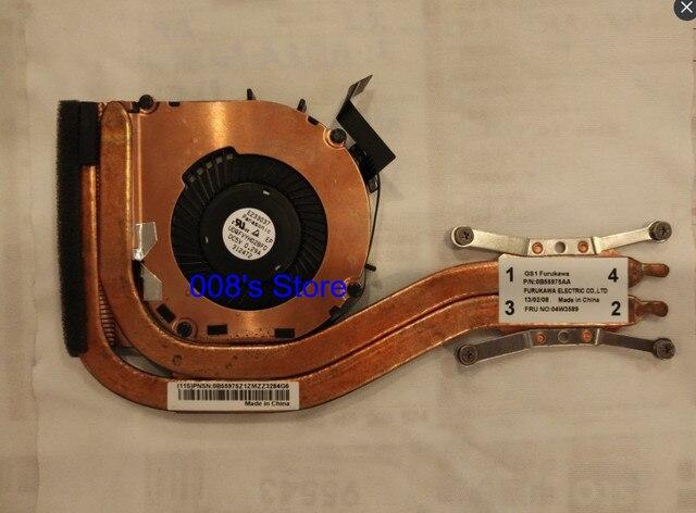Original new cpu cooler ventilador do dissipador de calor para lenovo thinkpad x1 carbono 2012 notebook pn fru 0b55975aa 04w3589 udqfvyh02bfd e233037