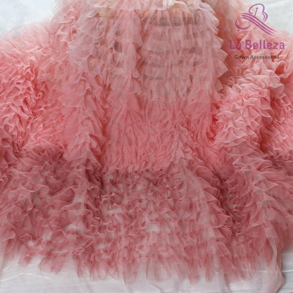 La Belleza 5 yards Fashion Gradient mesh 3D lace fabric 100cm width
