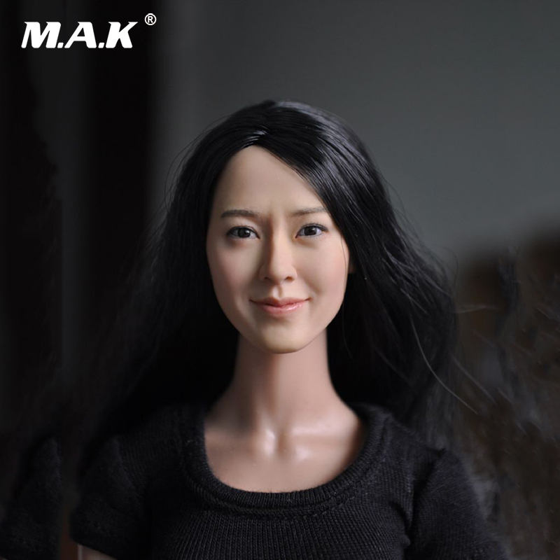 1/6 Scale Head Carving Female Figure Head Juguetes Head Sculpt Bonecos Colecionaveis For 12 inches Action Figure 1 6 scale the game of death bruce lee head sculpt and kungfu clothes for 12 inches figures bodies