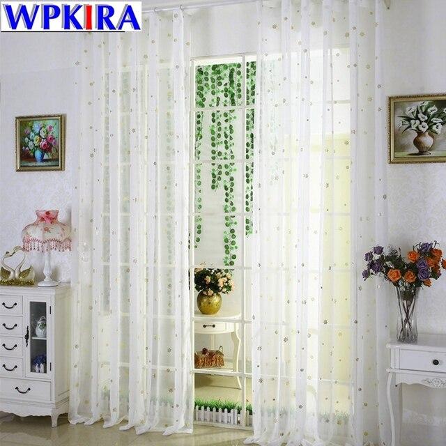 Rustic Silver Star Curtain Tulle Golden Snowflake Curtain Blending Linen  Sheer Tulle Window Sheer Living Room