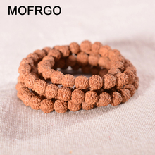 Natural Rudraksha Mala Beads Bracelet for Men Women Buddha Buddhist Rosary Healing Balance Yoga Prayer Bracelet Accessories