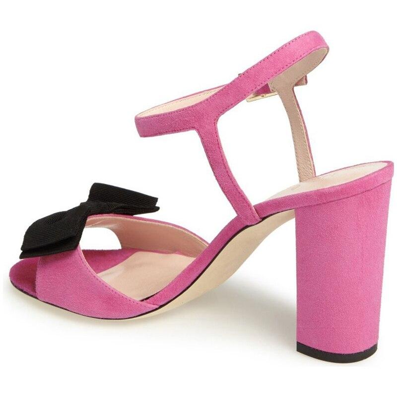 Del Genuini Bowtie Scarpe Delle Donne Talloni Sandali Donna Degli Pink Sexy Piattaforma Casual amp; Partito Cuoio Della Pattini Estate Famoso Di Alti Nancyjayjii Marca nFa7Sa