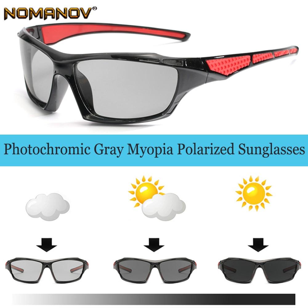 Oculos Masculino Photochromic Polarized Prescription Sunglasses Custom Made Myopia Minus Lens -1 -1.5 -2 -2.5 -3 -3.5 -4 To -6