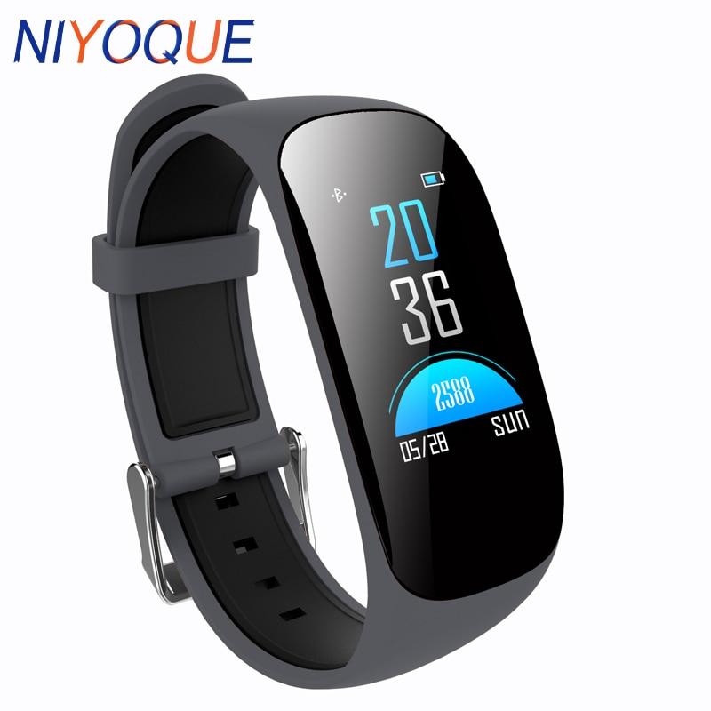 NIYOQUE Smart Wristband Heart Rate Monitor Blood Oxygen Pedometer Bracelet Fitness Tracker Band Waterproof Sport Smart Watch цены онлайн