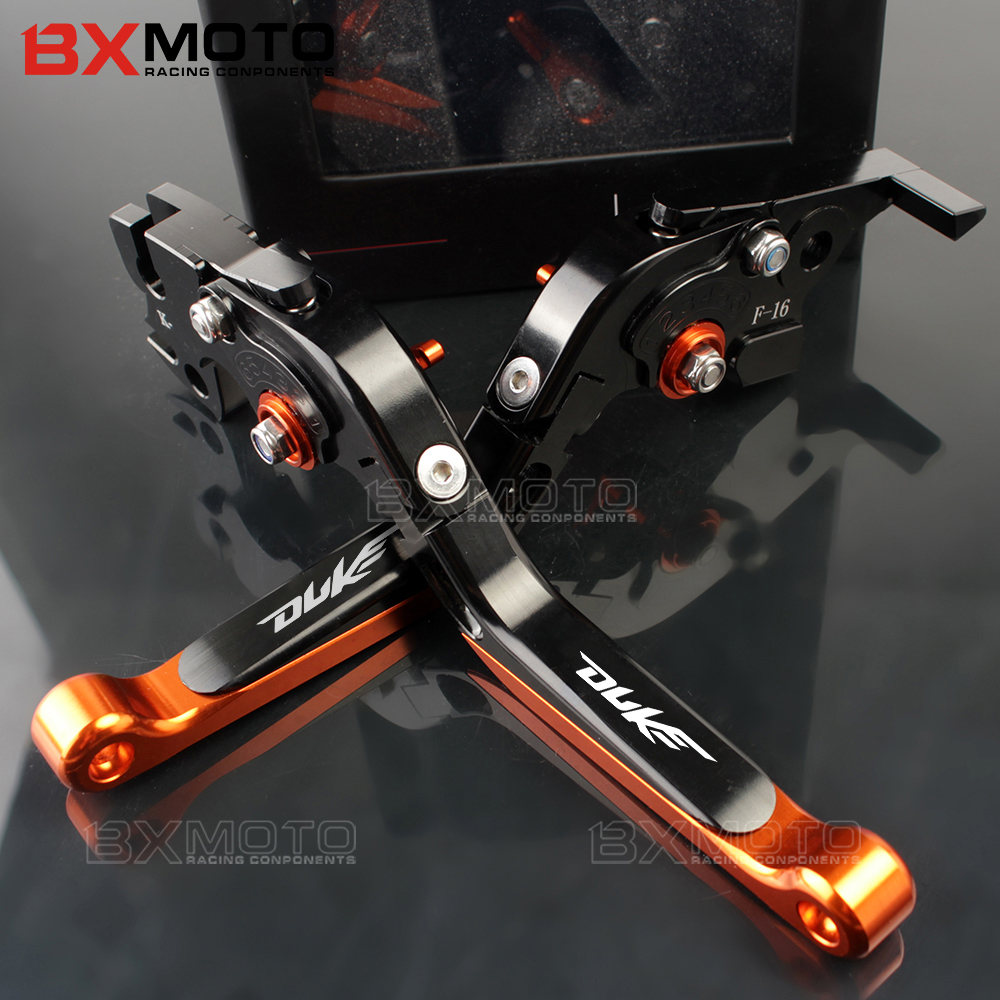 For ktm duke 125 200 390 duke 2014-2017 2018 Motorcycle lever CNC Adjustable Foldable Lengthening aluminum brake clutch levers bjmoto cnc aluminum blade adjustable brake clutch levers set for ktm duke 390 2013 2018 duke 200 125 rc 125 200 390 2014 2018