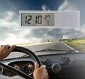 Nuevo Mini 2 en 1 Digital LCD de Coches Auto Reloj + Termómetro Envío Gratis