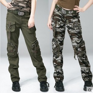 93929bc053969 HOT Fashion plus size Denim overall trousers multi pocket cargo pants women  Man army fatigue pants loose jeans baggy sport pants