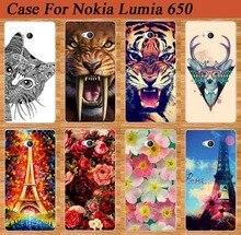 НОВЫЕ Красочные 14 Модели мода окрашенные Защитный Пластиковый Жесткий телефон Case для Nokia Lumia 650 Задняя Крышка для Nokia Lumia 650