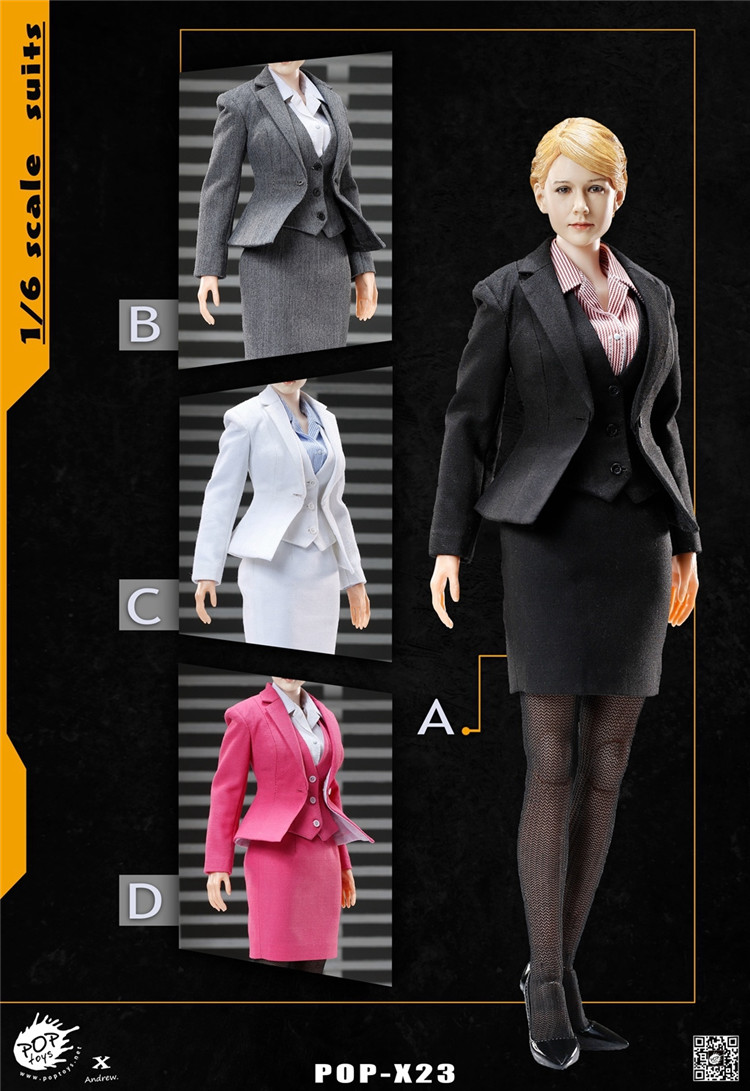 ФОТО 1:6 Scale Female Figure clothes Accessory Office Lady business suits for 12