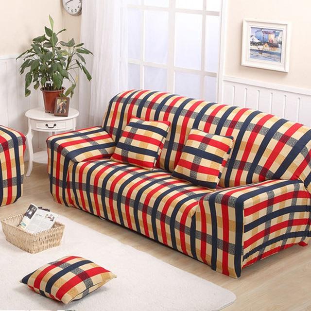 aliexpress : sofagarnitur sitzbezüge roten und blauen streifen, Hause deko