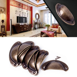 Hot sale kitchen cupboard door cabinet cup drawer furniture antique shell pull handle 12pcs 68124.jpg 250x250