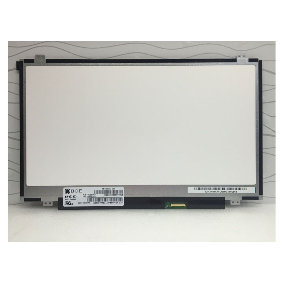 For BOE HB140WX1 301 LED Screen LCD Display Matrix for Laptop 14 0 HD 1366X768 30Pin