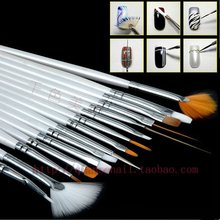 Nail Art Tools Brush Pendientes Materials For Pinceis Para Pintura Peinture Acrylique Aour Peintures UV Gel Polish Pincel 271