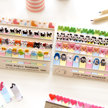 6 pcs Cartoon animal memo paper post One point marker decorative sticky note it stationery items office School supplies A6783