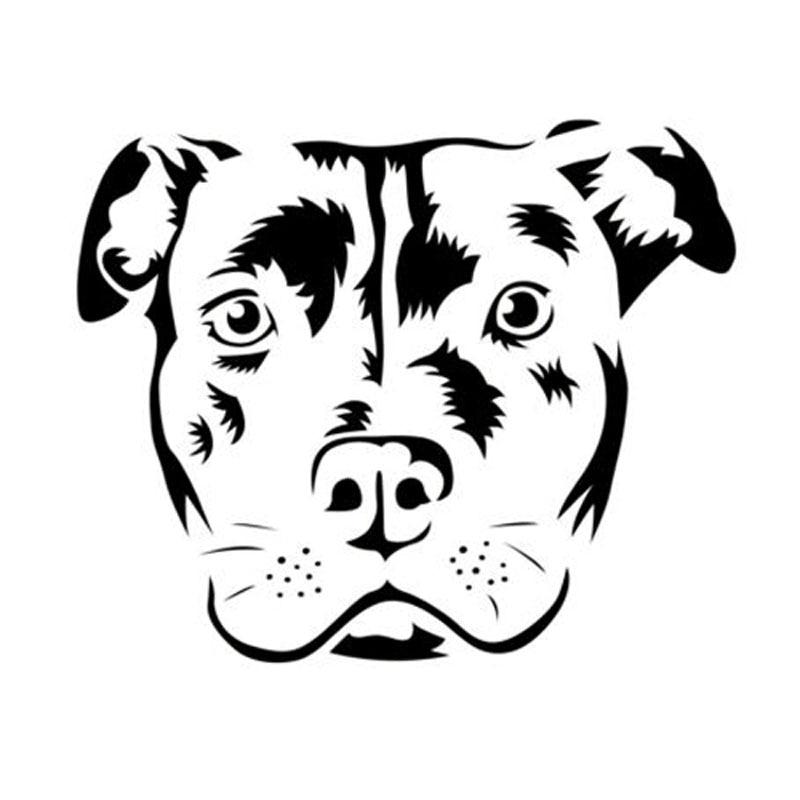 12.5*10.3CM Bull Terrier Dog Classic Window Decoration Car Stickers Creative Cartoon Decals Car Accessories C6-1367