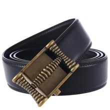 Black Width 35mm Cowhide Genuine Leather Belt For Men Designer Good Quality Belt Male Automatic Buckle Luxury Mens Belts