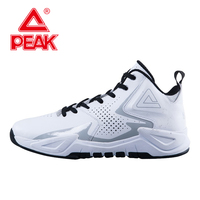 PEAK Ares Reborn Men Basketball Shoes Shock Absorption Cushion 3 Tech Sneakers Breathable High Top Athletic Training Ankle Boots