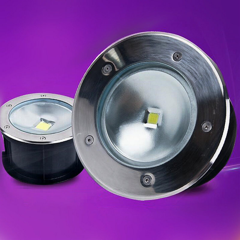 50W LED underground light IP65 Buried recessed floor outdoor lamps AC85-265V CE&ROHS by DHL 12pcs