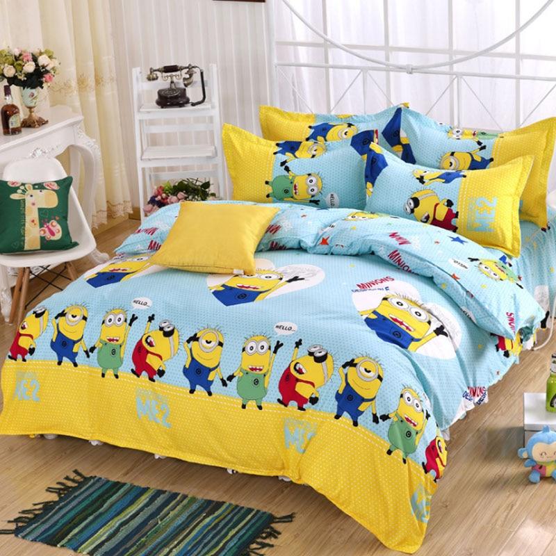 Lucu Minion Bedding Set 34 Pcs Animasi Kartun Tempat Tidur