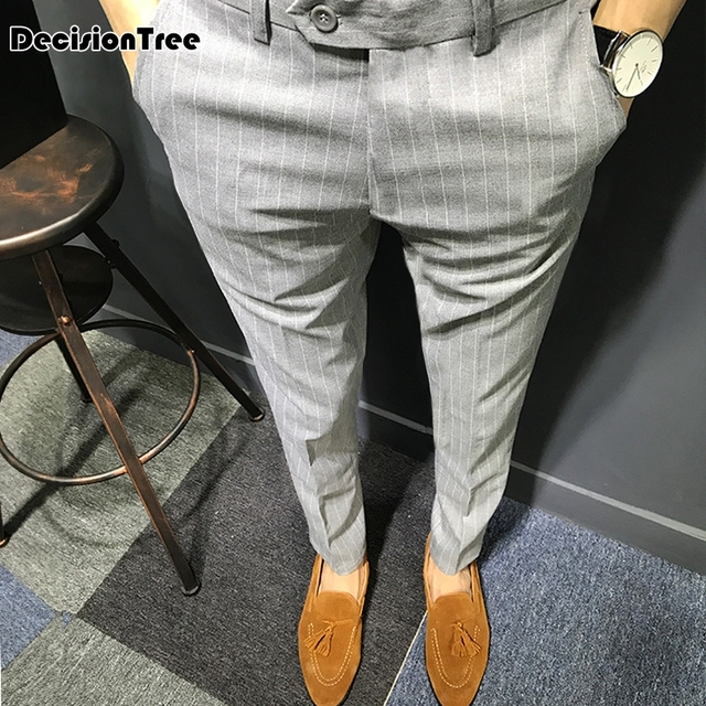 2019 summer men luxury suit pants social dress pants mens fit formal blazer trousers arrival pantalon costume homme black
