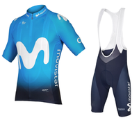 Movistar 2018 pro Team cycling jersey bike shorts set MTB Ropa Ciclismo mens summer bicycling Maillot wear 9D pad