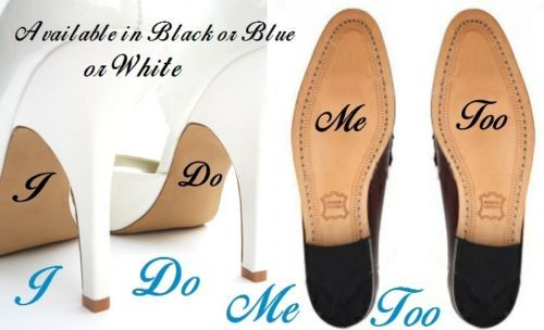 2pcs Set I Do Me Too Personalised Wedding Shoes Decal Vinyl Novelty Cute Stickers For