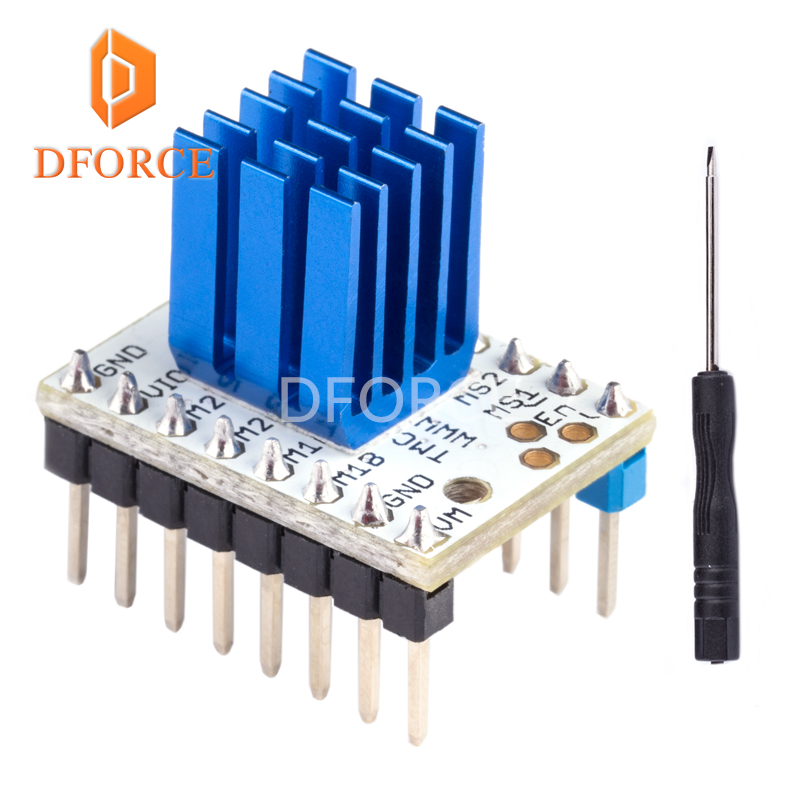 DFORCE 3D printer TMC2208 Stepping Motor Mute Driver ultra-silent stepping controller tube built-in driver current 1.4A DFORCE 3D printer TMC2208 Stepping Motor Mute Driver ultra-silent stepping controller tube built-in driver current 1.4A