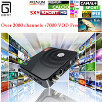 Gotit Android IPTV Box DVB S2 1300 Channels With 7000 VOD Movies Italy UK Germany Albania