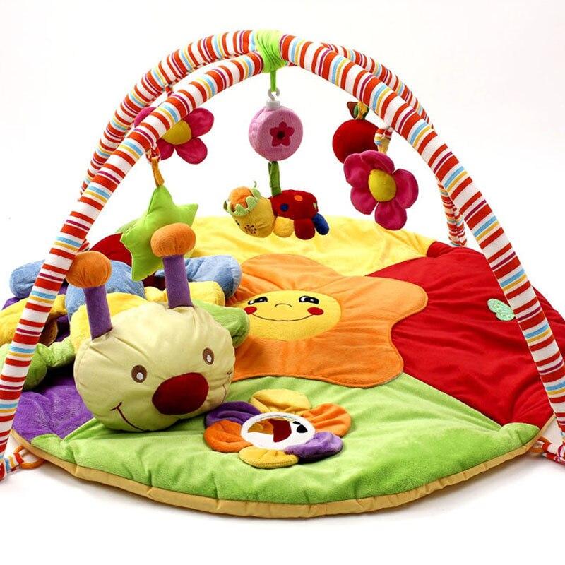 Bébé jouets éducatifs bébé tapis de jeu en peluche 0-1 an bébé Tapete Infantil tapis rampant musique jouer jeu tapis Gym couverture tapis