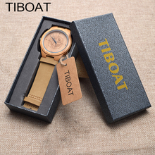 TIBOAT wood watch men watch women Fashion mens watches top brand luxury montre femme homme horloges mannen relogio masculino
