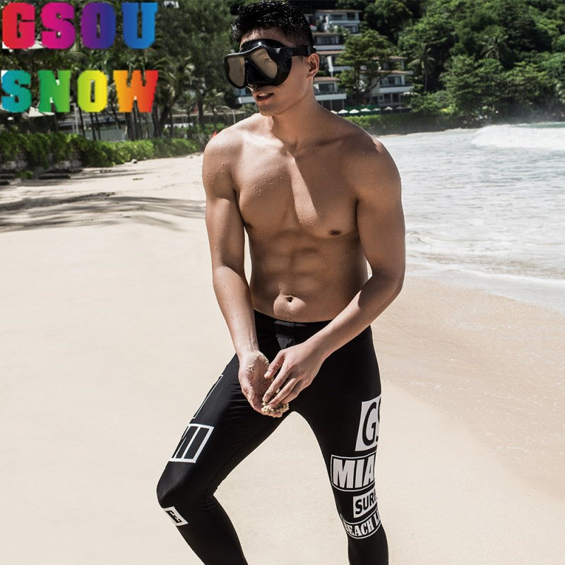 GSOU SNOW Brand Diving Pants for Men Summer Swimming Snorkeling Surfing Diving Wetsuit 2018 Warm Trousers Leggings Tights Black