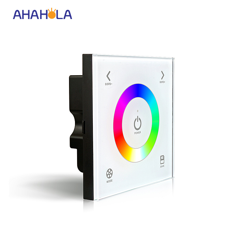 Ltech 12/24v led stip rgb controller,wall mounted rgb touch controller dimmer,11 mode,diy mode,brightness adjust 5 year warranty